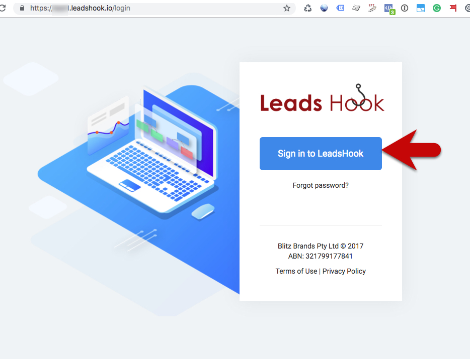 Login LeadsHook